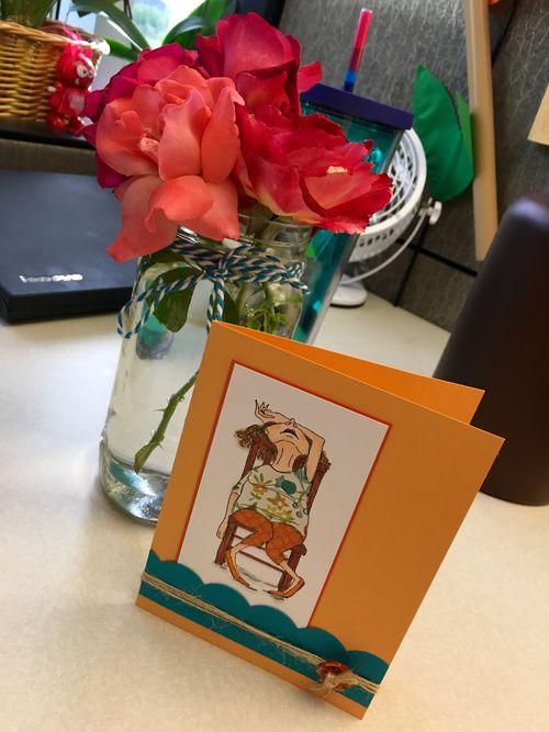 Card&flowers