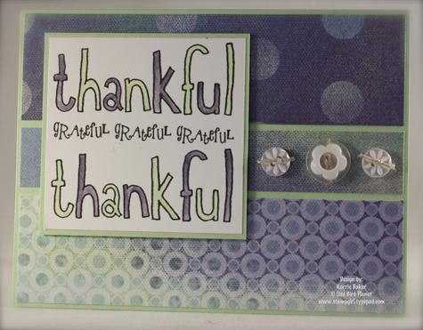 Thankful, oh so grateful...