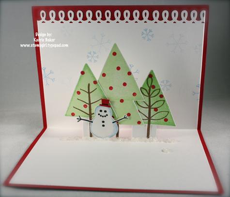Snowman Pop Up Card