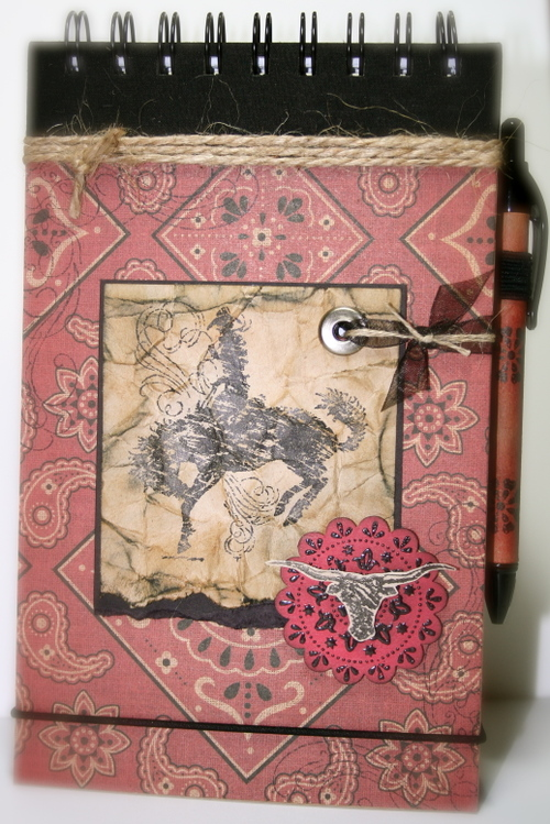 Art Journal made with Bronc Buster & Wanted