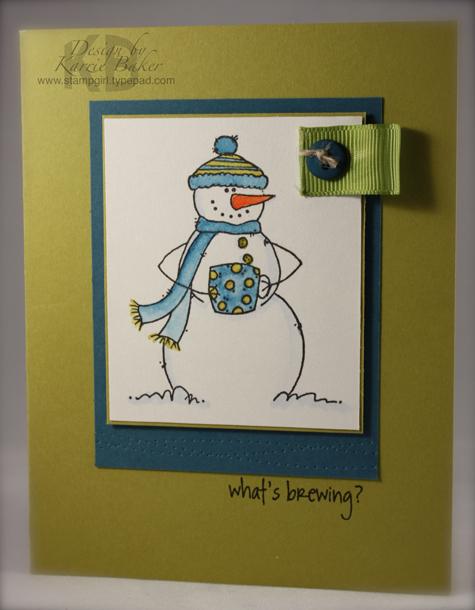 Hot Cocoa Snowman aka Espresso Snowman